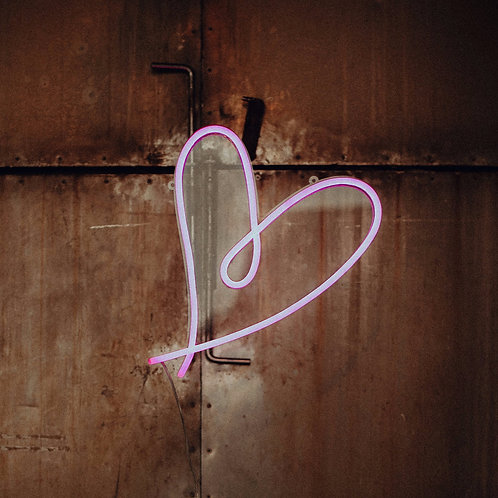 LED-Neon Sign Herz - Pink