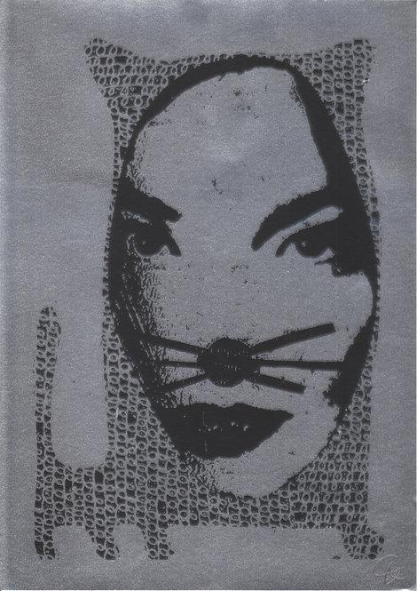 Bjork Is A Cat (screen print)