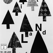 Poster for my solo show Hinterland at Deptford Does Art