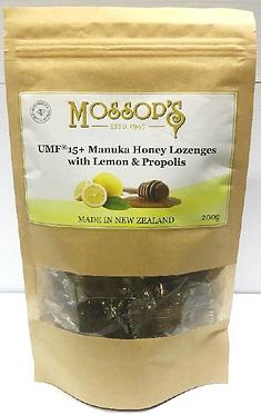Mossop's UMF15+麥蘆卡蜂蜜喉糖檸檬蜂膠 200克