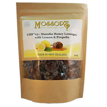 Mossop's UMF15+麥蘆卡蜂蜜喉糖檸檬蜂膠 500克