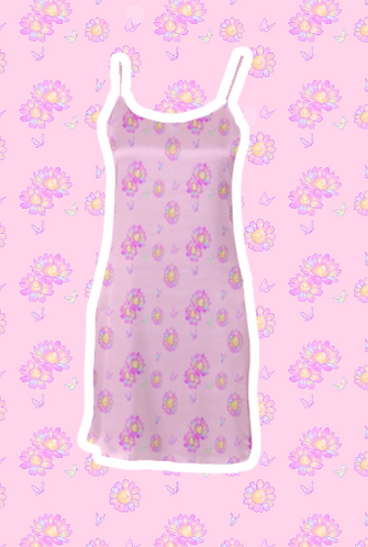 Precious Flora Satin Dress
