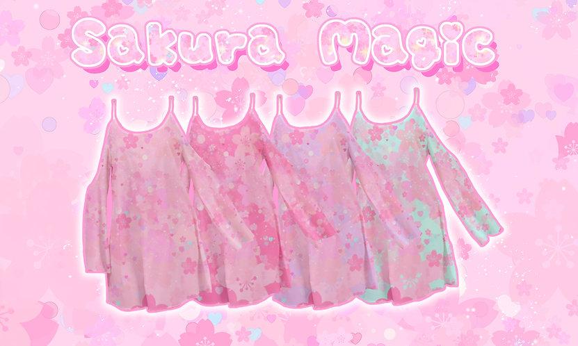 Sakura Magic Kimono Sleeve Dress