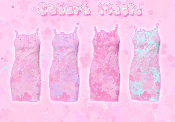 Sakura Magic Lace-up Dress