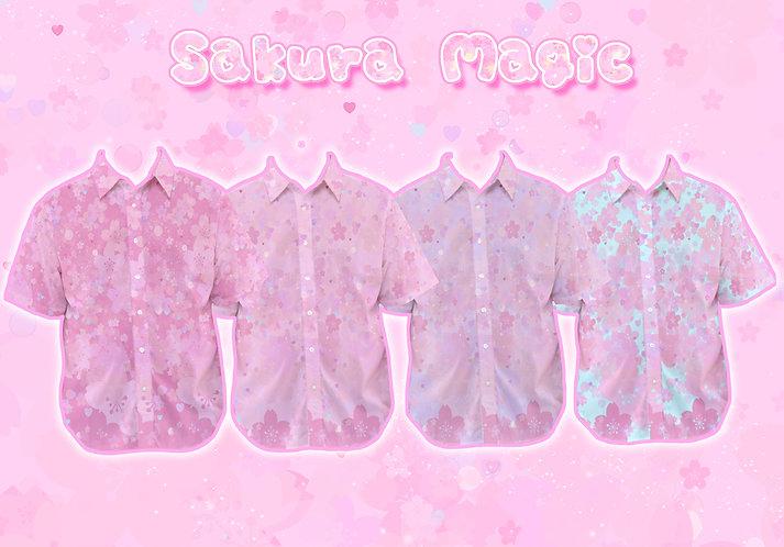 Sakura Magic Button-Up