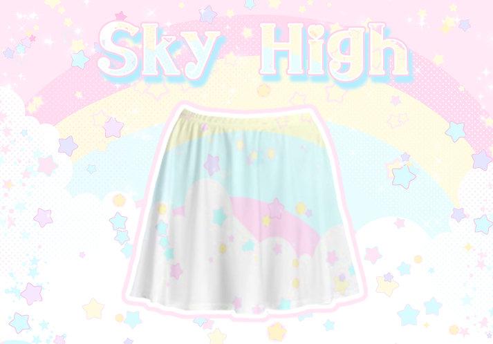 Sky High Skater Skirt