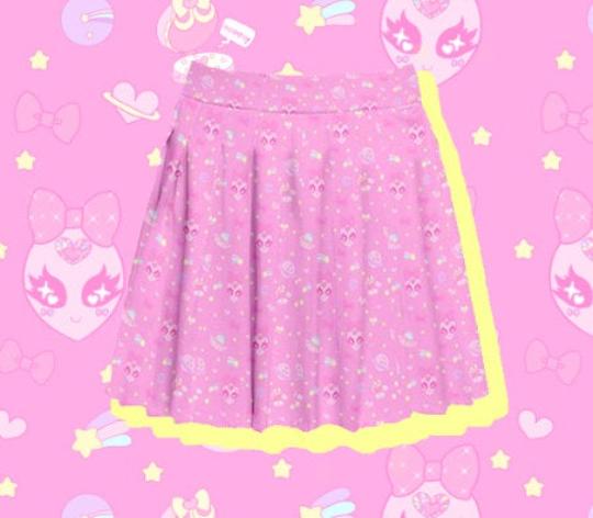 Space Cuties Pleated Skirt