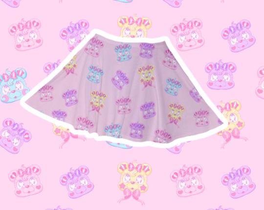 Kire Kuma Velvet Skirt