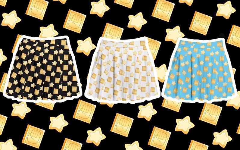Palm Star Pleated Skirt