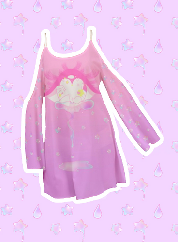 Starry Eye Kimono Sleeve Dress