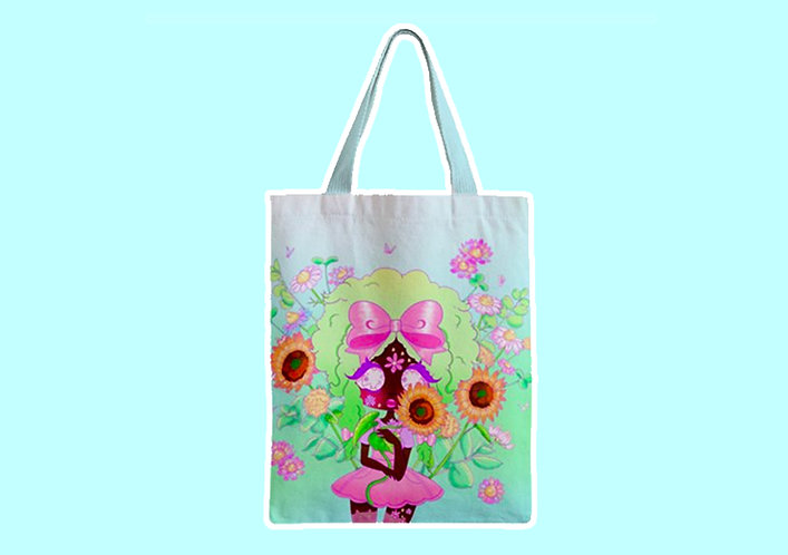 Precious Flora Zipper Tote Bag