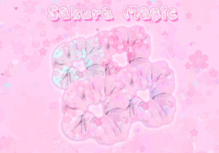 Sakura Magic Scrunchie
