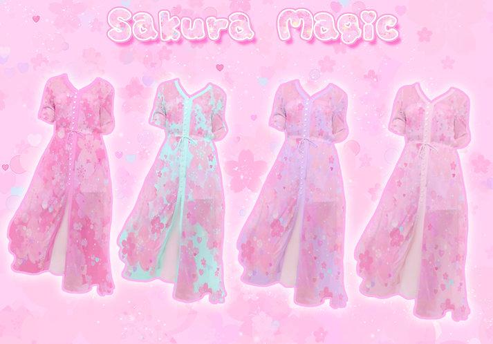 Sakura Magic Button-Up Maxi Dress