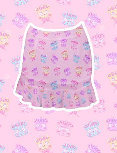 Kire Kuma Chiffon Mini Skirt