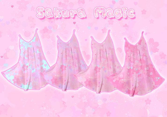 Sakura Magic Chiffon Dress