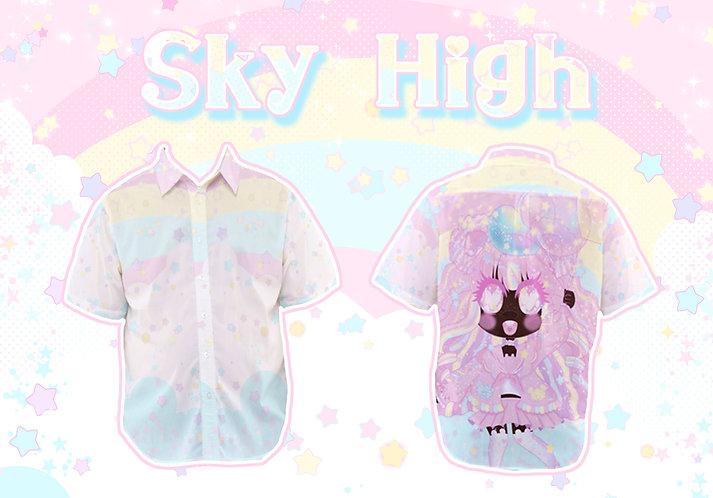 Sky High Short Sleeved Button-Up