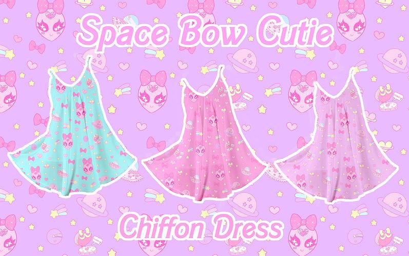 Space Bow Cutie Chiffon Dress