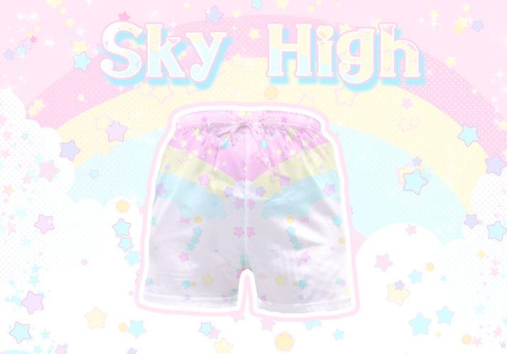 Sky High Satin Shorts