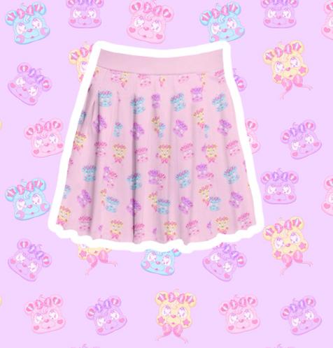 Kire Kuma Pleated Skirt