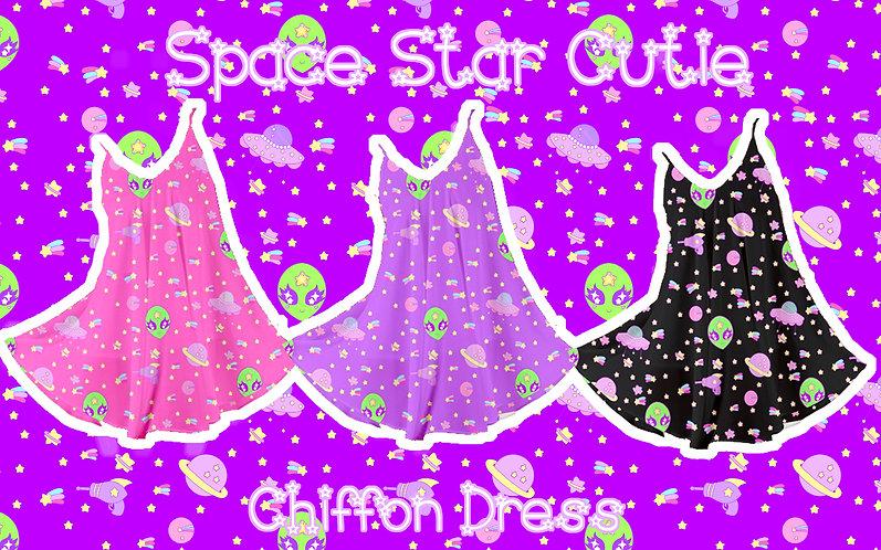 Space Star Cutie Chiffon Dress