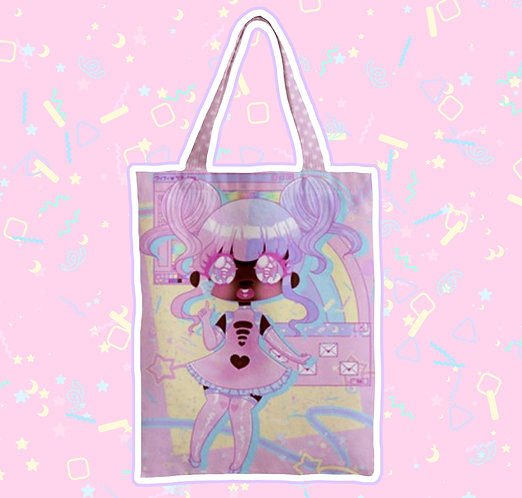 Pink Connection Zipper Tote Bag