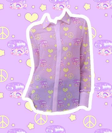 Pastel Josuke Chiffon Shirt