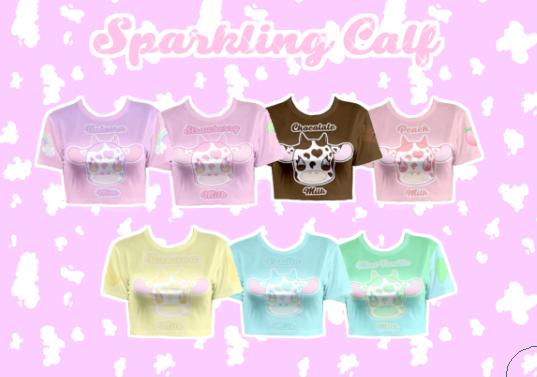 Sparkling Calf Crop Top