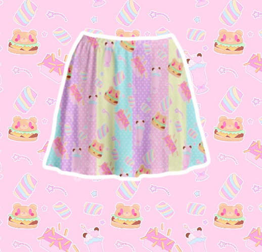 Coco Kuma Diner Skater Skirt