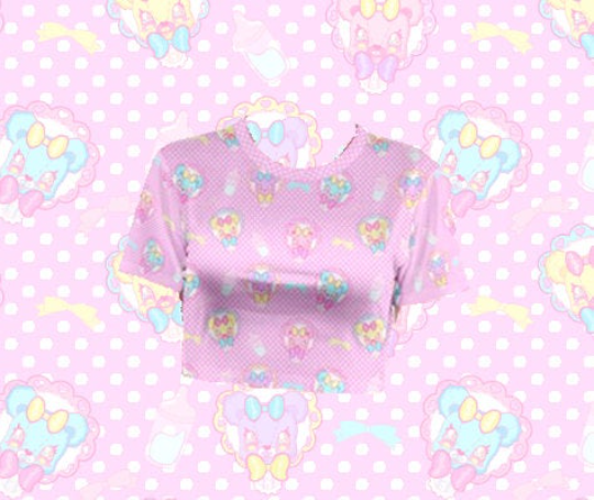 Dreamy Baby Bear Crop Top