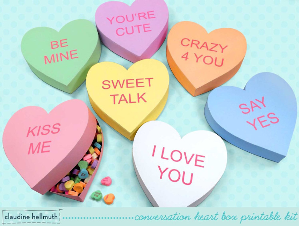 So retro! Love a love heart...