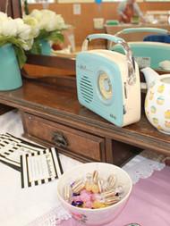 The Blusherettes Pop-up Parlour set-up
