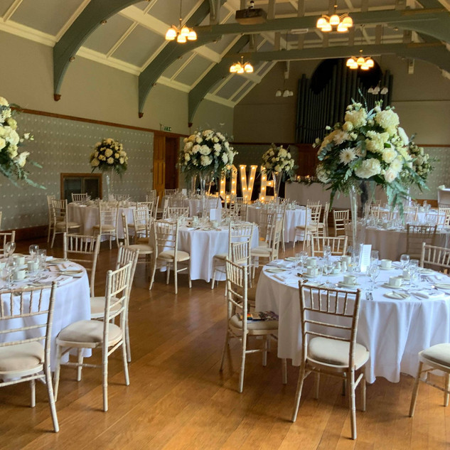 Classical style venue dressing by TMS Ev
