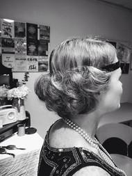 Electro Swing Ball Telford hair styling.