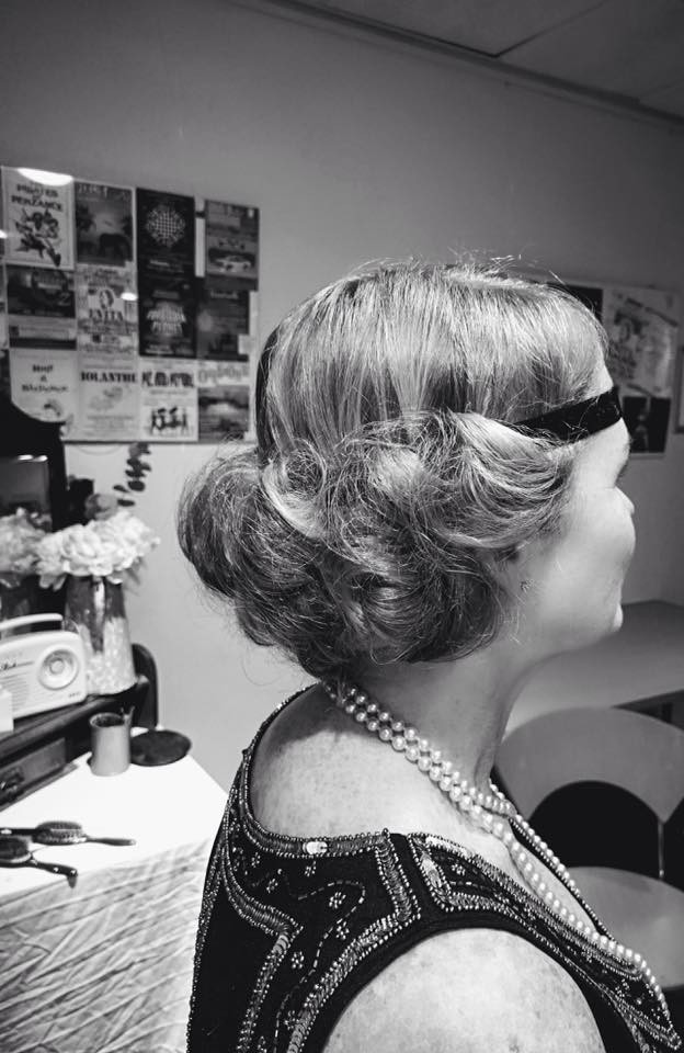 Electro Swing Ball Telford hair styling.