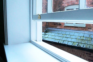 Draught proofing in a sash window