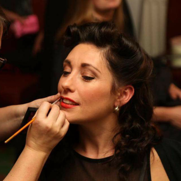Vintage ball makeup by The Blusherettes