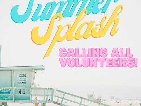 Summer Splash Volunteer Sign-up