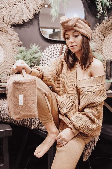 Trousse de toilette en laine