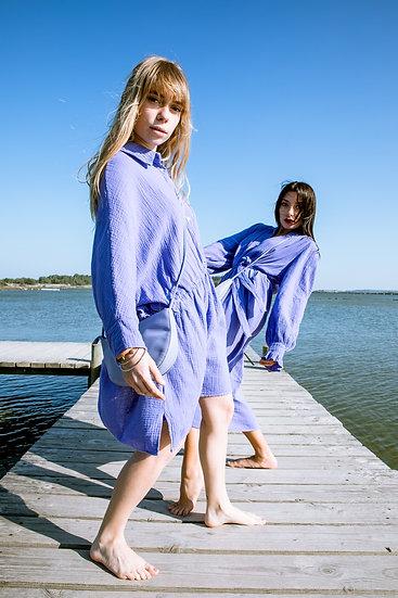 Robe courte gaze de coton