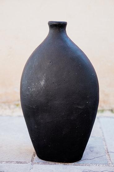 Vase bouteille noir mat