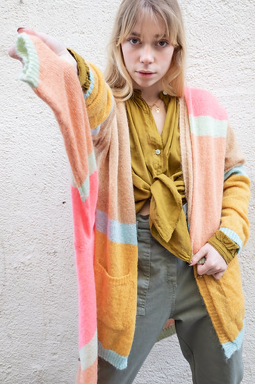 Gilet Multicolore en Mohair