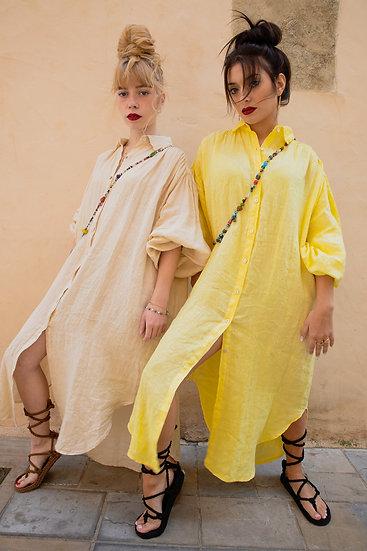Robe chemise 100% lin