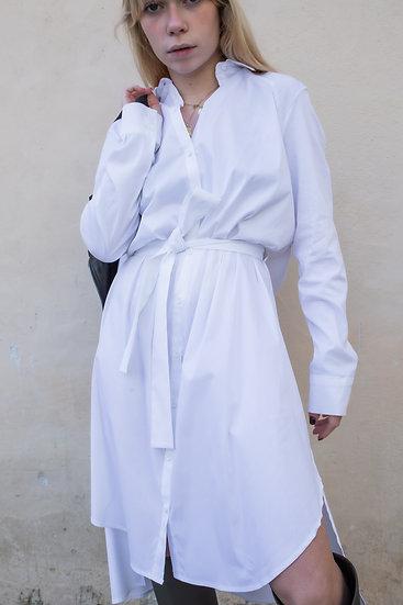 Robe chemise longue à nouer Imperial