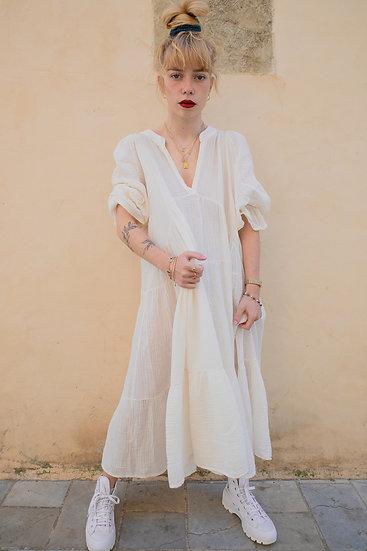 Robe longue gaze de coton