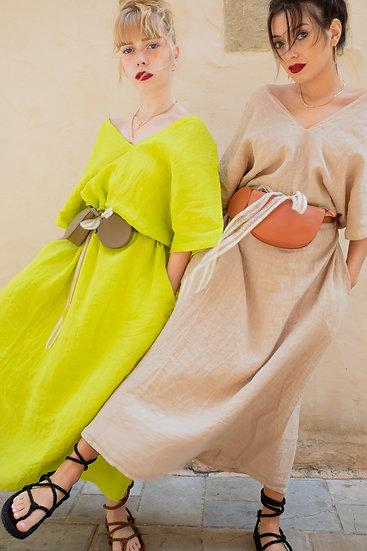 Robe à nouer 100% lin