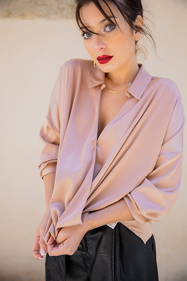Blouse satin cache coeur IMPERIAL
