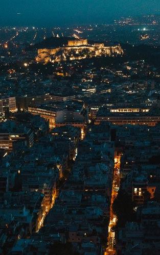 Uitzicht op de Akropolis van Athene