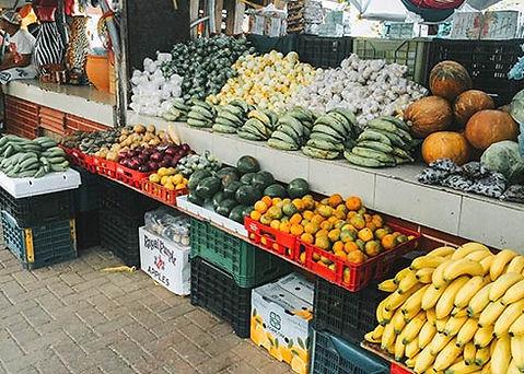 De markt van Willemstad in Curacao