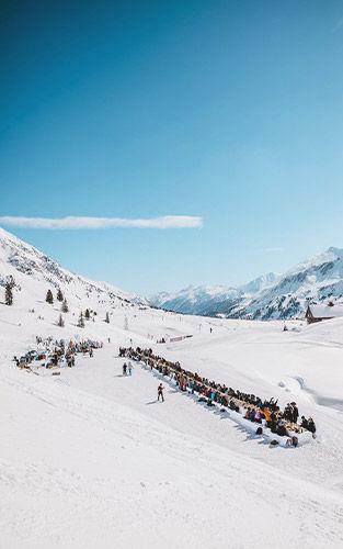 De mountain banquet van The Ski Week is het letterlijke hoogtepunt van de reis