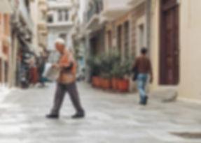 De straten van Athene!